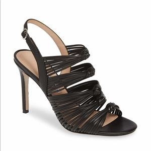NWT Charles David Leather Knotted Slingback Heels